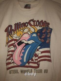 Rolling Stones Steel Wheels True Vintage T-shirt 1989 XL