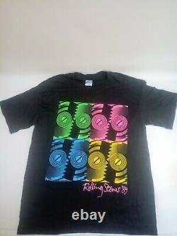 Rolling Stones Vintage American Steel Wheels 1989 Black XL T-Shirt AMAZING SHAPE