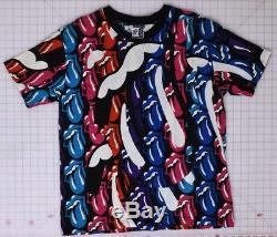 Rolling Stones Vintage Multi-Tongue 1989 Vintage Size 2 T-Shirt