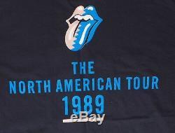 Rolling Stones Vintage No. American Steel Wheels 1989 Black XL T-Shirt