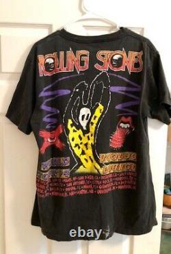 Rolling Stones Voodoo Lounge 1994 Black Vintage Concert T-shirt Large