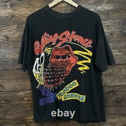 Rolling Stones Voodoo Lounge 1994 Black Vintage Concert T-shirt XL