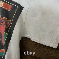 Rolling Stones Voodoo Lounge 1994 White Vintage Concert T-shirt XL