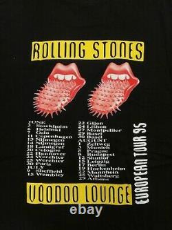 Rolling Stones Voodoo Lounge European Tour 95 Vintage T-Shirt