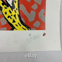 Rolling Stones Voodoo Lounge Vintage 90s Signed And Numbered Lithographic Poster