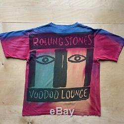 Rolling Stones Voodoo Lounge Vintage Shirt XL Brockum All Over Print Tie Dye
