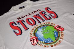 Rolling Stones Voodoo Lounge World Tour 94/95 T-Shirt Brockum Rock Vintage XL