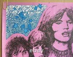 Stone Free Vintage Poster Rolling Stones Original Pin-up Double Sided Moon Lion