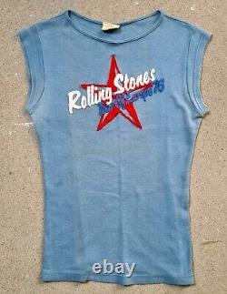 THE ROLLING STONES 1976 original TOUR OF EUROPE SHIRT very RaRe