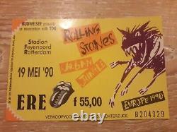 THE ROLLING STONES Urban Jungle 1990 Vintage EU Tour T Shirt +TICKET LP XL White