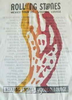 THE ROLLING STONES original 1995 MEXICO CITY TOUR t shirt double sided MICK rare