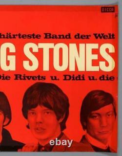 THE ROLLING STONES vintage original Berlin 1965 concert poster TRIMMED