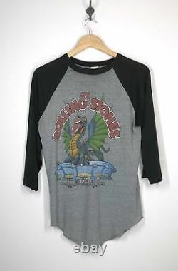 The Rolling Stones 1981 San Diego CA J. Giels Thorogood Raglan Shirt Large