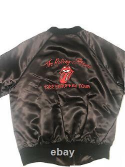 The Rolling Stones Original Vintage Jacket 1982 Tattoo You European Tour Large
