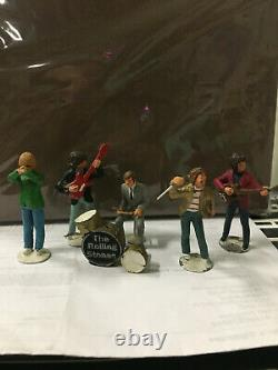 The Rolling Stones Vintage Lead Figures Set Very Rare 1980's
