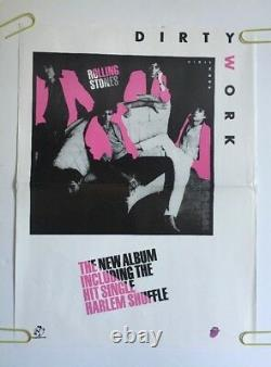 The Rolling Stones Vintage Poster Dirty Work Promo 1980s Pin-up Retro Music Ad