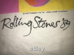 The Rolling Stones Vintage T Shirt 1989 Steel Wheels Warhol Mens XL Preowned