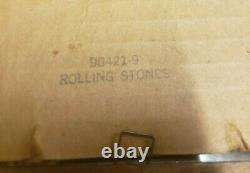 The Rolling Stones felt glass with gold leaf behind it, vintage original