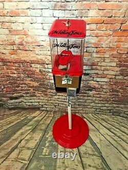The Rolling Stones inspired vintage gumball machine candy dispenser man cave
