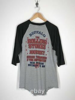The Rolling Stones with Journey Thorogood Buffalo, NY 1981 Raglan Shirt XL