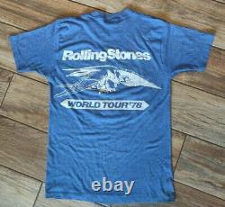 ULTRA RARE 1978 Original Single stitched Rolling Stones World Tour t-shirt MED