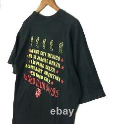 Ultra Rare Vintage ROLLING STONES South America 94/95 World Tour Tee Shirt The