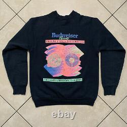 VERY RARE Vintage 1989 Rolling Stones Budweiser Steel Wheels Tour Sweatshirt LG