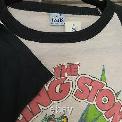 VINTAGE 1981 ROLLING STONES CONCERT TEE Dragon American Rock Tour T Shirt Band M