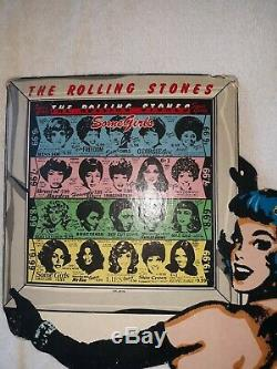 VINTAGE ADVERTSING 1978 ROLLING STONES SOME GIRLS 19in. COUNTER TOP DISPLAY
