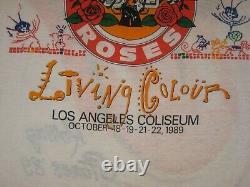 VINTAGE CONCERT TEE Rolling Stones Steel Wheels Tour 1989 Guns n Roses size XL