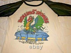 VINTAGE ROLLING STONES 1981 T-SHIRT DRAGON SOLD OUT TOUR Size XL RARE