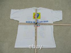 VINTAGE Rolling Stones Shirt Adult Extra Large White 1989 Concert Tour Band Mens