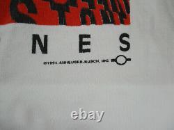 VINTAGE Rolling Stones Shirt Adult Extra Large White Budweiser 1994 Concert Mens