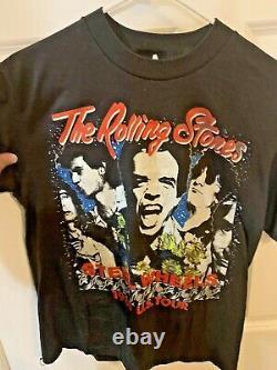 VINTAGE Rolling Stones Steel Wheels 1989 US Tour Black men's L T-Shirt