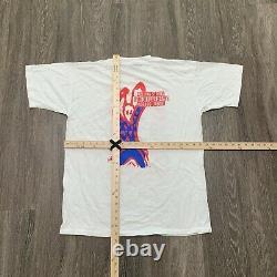 VINTAGE Rolling Stones Tee XL White Shirt Single Stitch 90s Brockum Voodoo