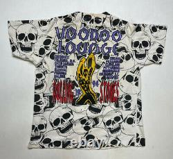 VINTAGE Rolling Stones Voodoo All Over Print 1994 T-shirt Men XL Single Stitch