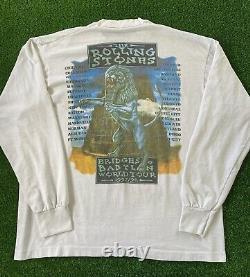VTG 1997 1998 Rolling Stones Bridges To Babylon Concert Tour Long Sleeve T-Shirt