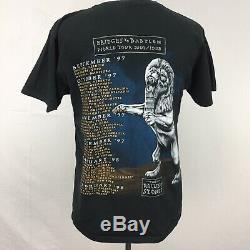 VTG 1997 98 Bridges to Babylon Rolling Stones Mens Black Tour T Shirt sz L 90s