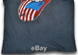 VTG 80s 1981 THE ROLLING STONES North American Rock Concert T SHIRT Thrashed S M