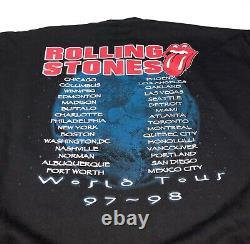 VTG 90s The Rolling Stones Tour crewneck Sweatshirt sz XL Deadstock New 97-98