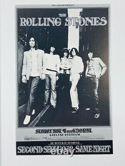 VTG Bill Graham BG 201 OPC-A Rolling Stones Oakland Raffaelli Postcard