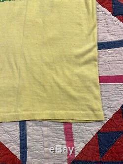 VTG Peter Tosh T Shirt 1979 Bush Doctor Tour Rolling Stones Weed Leaf Joint MED