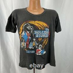 Vintage 1970s ROLLING STONES T-shirt 1978 US Tour Authentic 70s Band Concert Tee