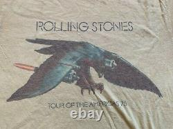 Vintage 1975 Rolling Stones Tour Of The Americas'75 Single Stitch Band T-shirt
