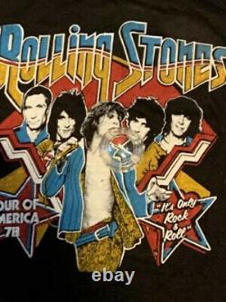 Vintage 1978 Rolling Stones Concert Shirt Deadstock