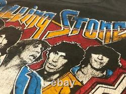 Vintage 1978 Rolling Stones Tour of America T-Shirt Black Faded Distressed