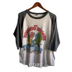 Vintage 1981 Rolling Stones Concert Tour Raglan Shirt