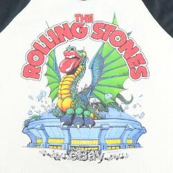 Vintage 1981 Rolling Stones Dragon Tour Jersey Shirt