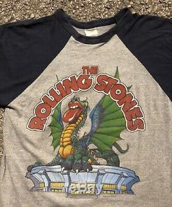 Vintage 1981 Rolling Stones T Shirt Jersey Philadelphia