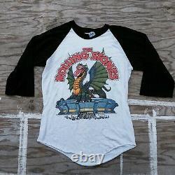 Vintage 1981 THE ROLLING STONES Dragon American Rock Concert Tour T SHIRT M Knit